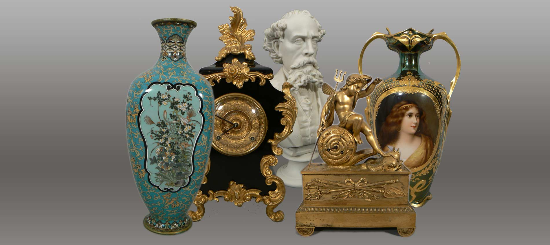 clocks, vases, ormolu