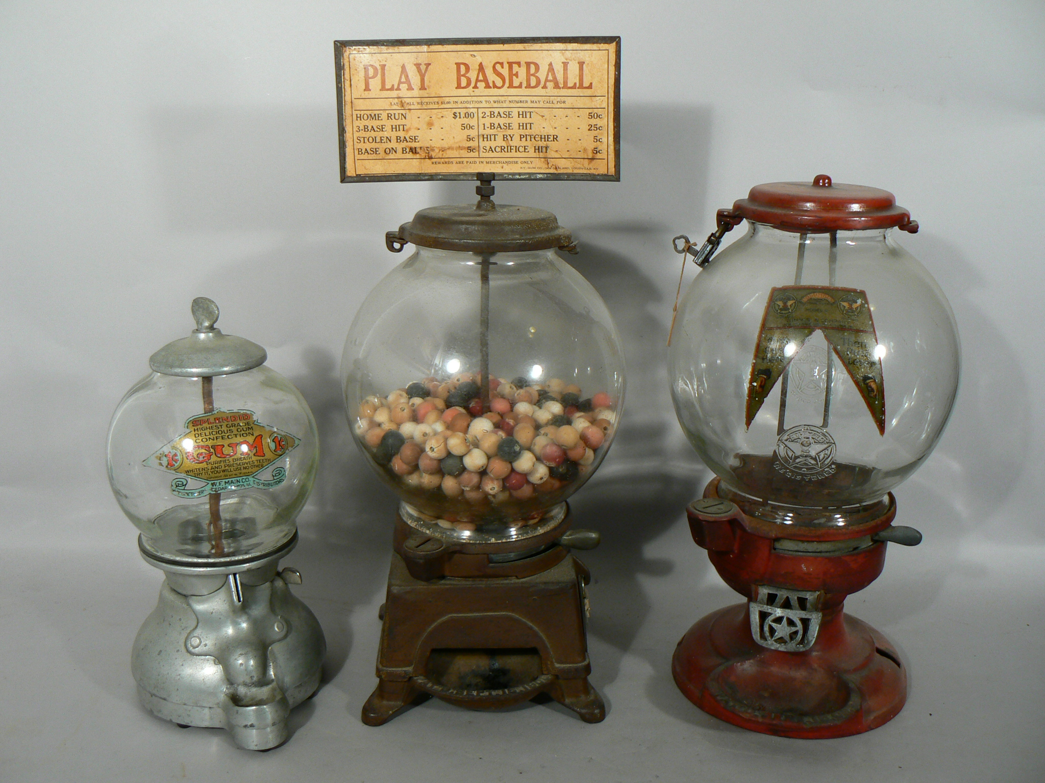 we are all about antique machines, gumball, pinball, gum, fortune-telling