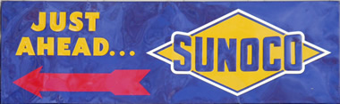 Sunoco gas tin sign