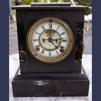 Antique Ansonia Connecticut marble clock with open escapement