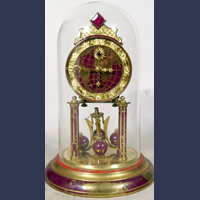 Vintage anniversary clock ,rare ruby jeweled version ! World Time !