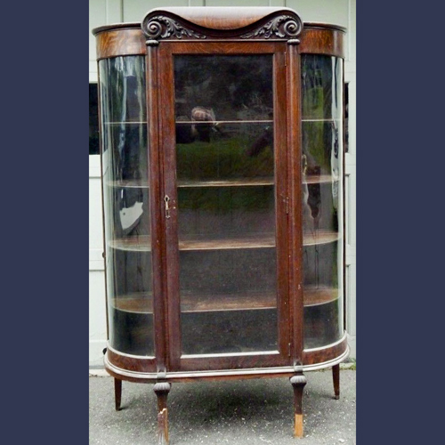 Traditional antique oak china cabinet