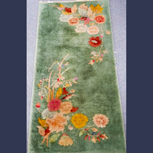 Chinese Art Deco Wool throw rug or mat
