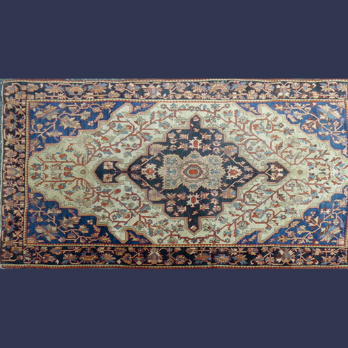Antique Persian hand knitted woven room size rug