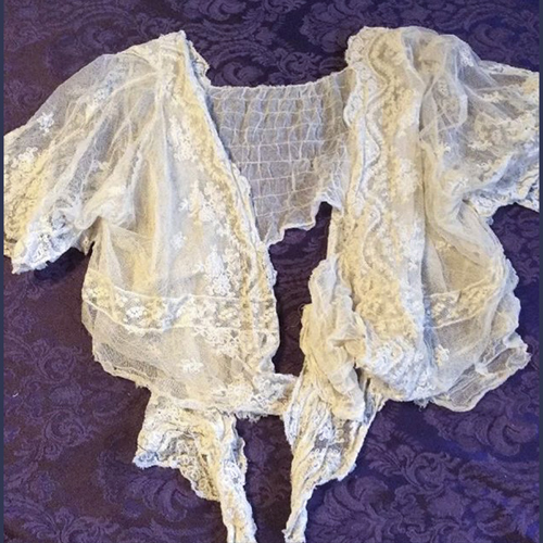 Vintage  lace , silk ,cotton dresses and other antique clothing