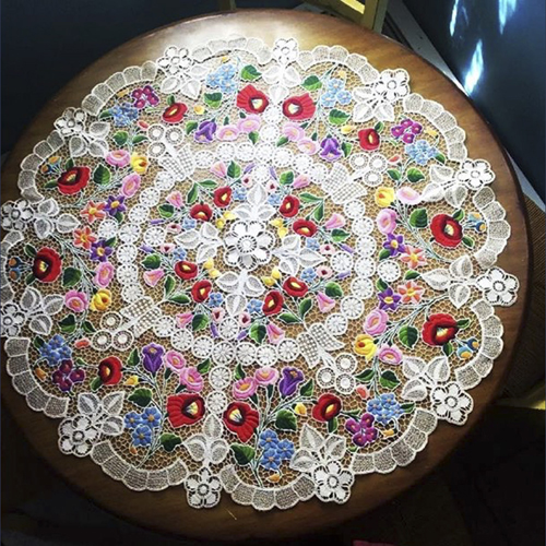 Vintage European hand crochet and embroidered lace doilies and table cloths