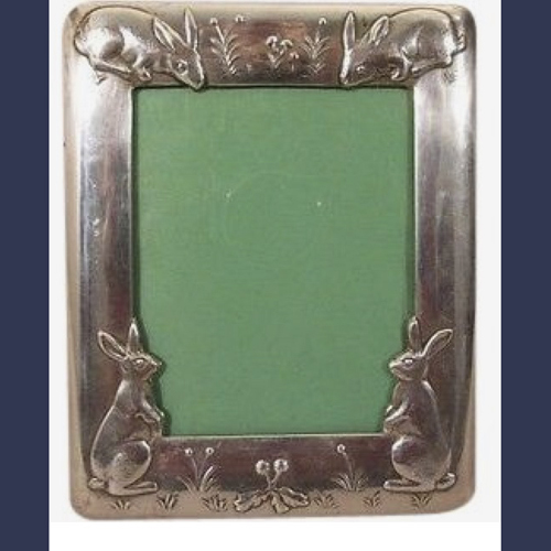 Asprey ,London Sterling silver baby photo picture frame