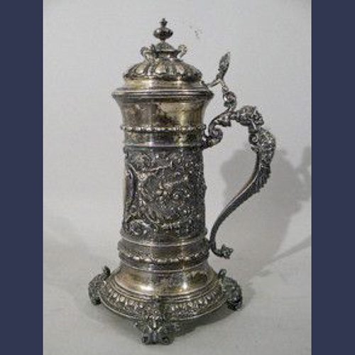 Victorian Continental Silver  German beer stein